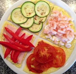 Omelet with different toppings